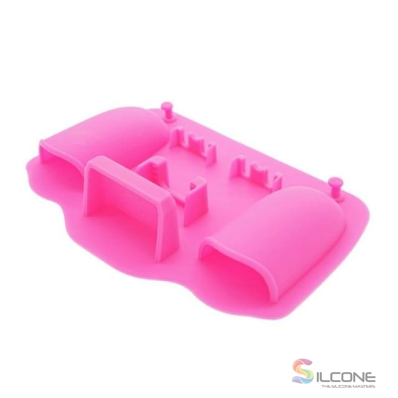 2-Hole Silicone Toothbrush Holder Pink