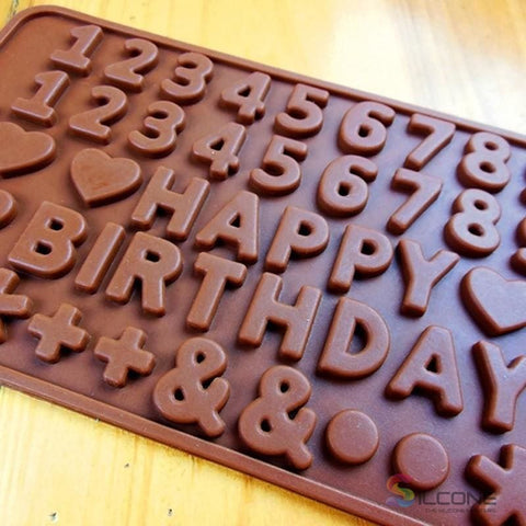Alphabet Birthday Cake Chocolate Silicone Mold