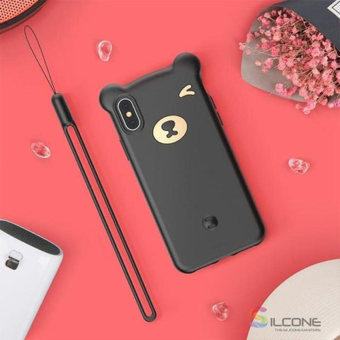 Image of Cute Little Bear Case For Iphone Xs Max Xr 2018 Black / 5.8