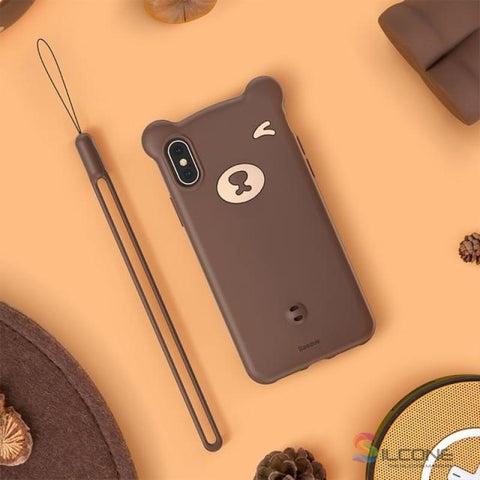 Image of Cute Little Bear Case For Iphone Xs Max Xr 2018 Brown / 5.8
