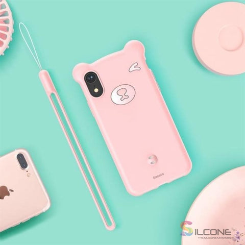Image of Cute Little Bear Case For Iphone Xs Max Xr 2018 Pink / 5.8