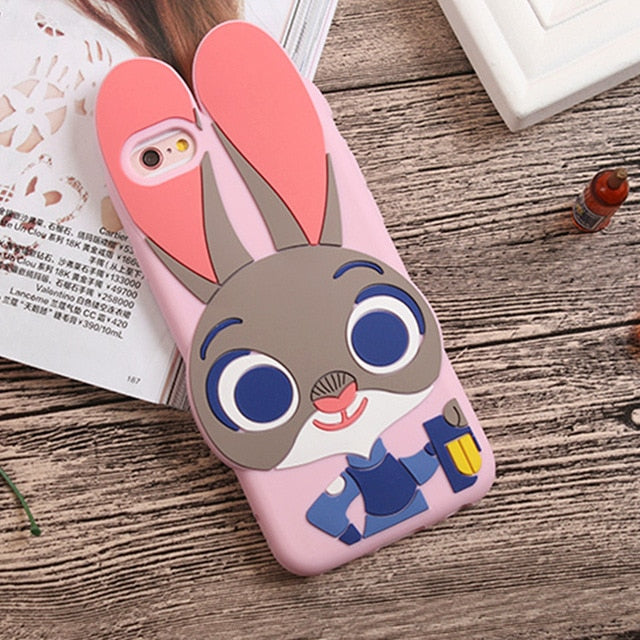 3D Cartoon Soft Silicone Phone Case For iPhone