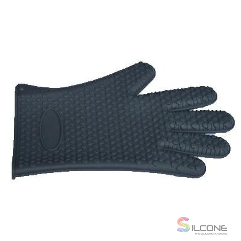 Image of Silicone Gloves Waterproof Heat Resistant Black