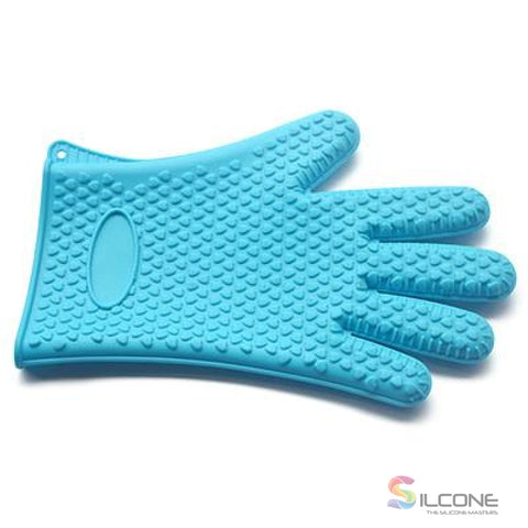 Silicone Gloves Waterproof Heat Resistant Blue