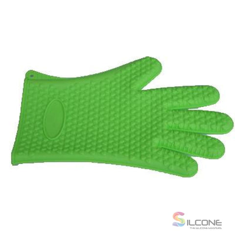 Image of Silicone Gloves Waterproof Heat Resistant Green