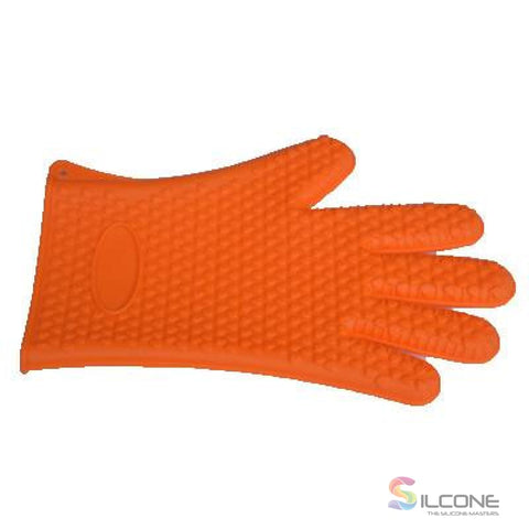 Silicone Gloves Waterproof Heat Resistant Orange