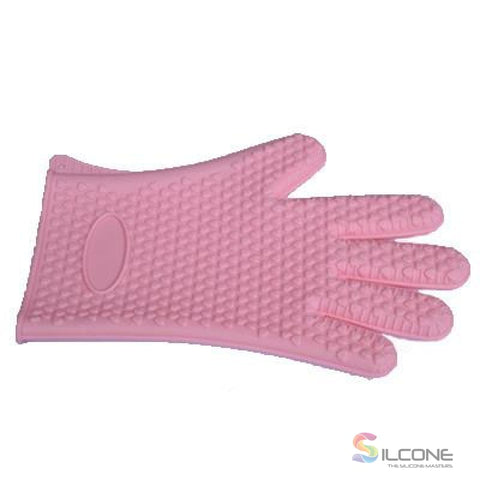 Silicone Gloves Waterproof Heat Resistant Pink