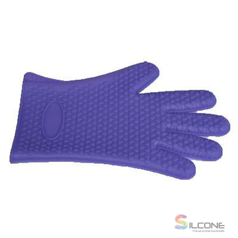 Silicone Gloves Waterproof Heat Resistant Purple