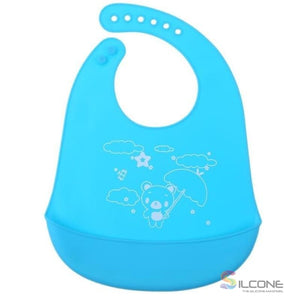 Waterproof Silicone Bibs Rubber Baby Bibs for Toddler Wipe Off Roll Up Boys Girls Unisex