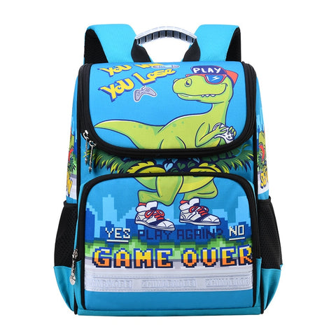 Cartable Bleu Clair | Dinosaure Factory