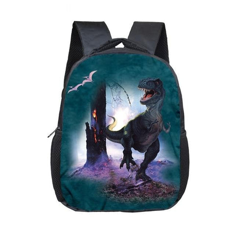 Sac Cartable Noir | Dinosaure Factory