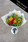 Vibrant Hand-tied - Free Upgrade to in a Vase
