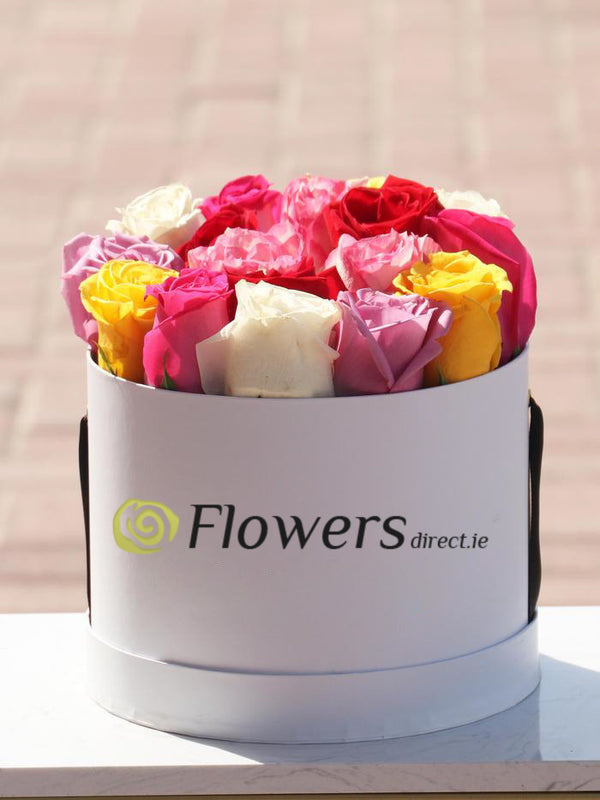 Colorful Rose Hatbox