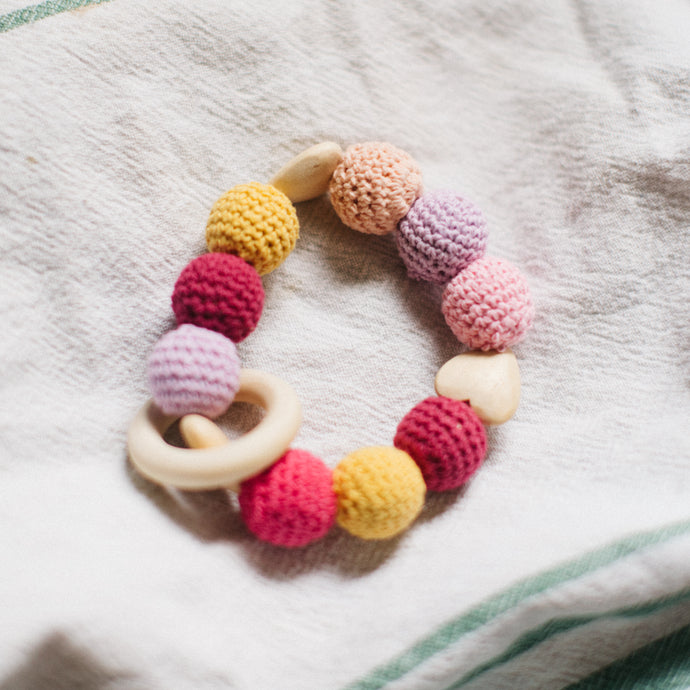Fifty Shades of Pink Teething Ring
