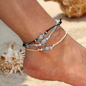 Bracelets4earth Turtle Anklet Set
