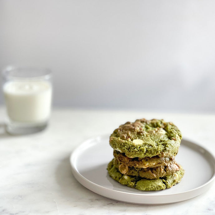 Matcha White Chocolate Cookies