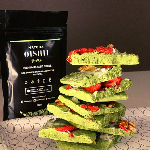 Matcha Yogurt Bark Recipe - Matcha Oishii