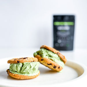 Matcha Green Tea Ice Cream Sandwich - Matcha Oishii