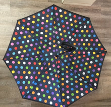 "Load image into Gallery viewer, 48"" Auto Open Polka Dot Inversion Umbrella"