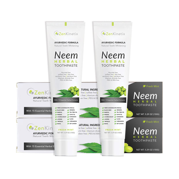 ZenKinetix Neem Herbal Toothpaste 2-Pack