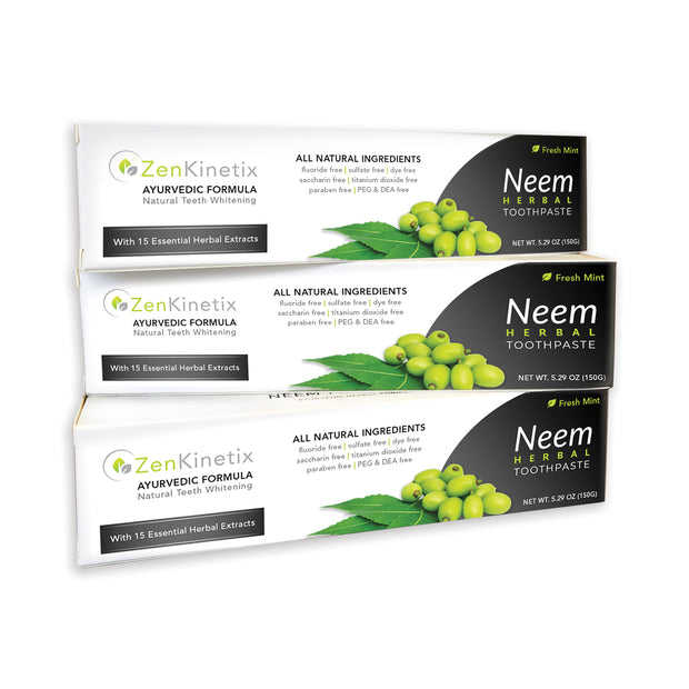 ZenKinetix Neem Herbal Toothpaste 3-Pack