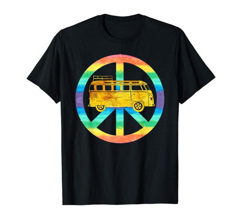 T-shirt bus Vintage Hippie