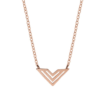 Hailey Necklace Rose Gold