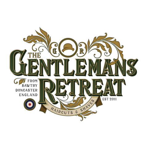 The Gentlemans Retreat Logo for the Best vintage barbershop in south yorkshire, best barbers Doncaster