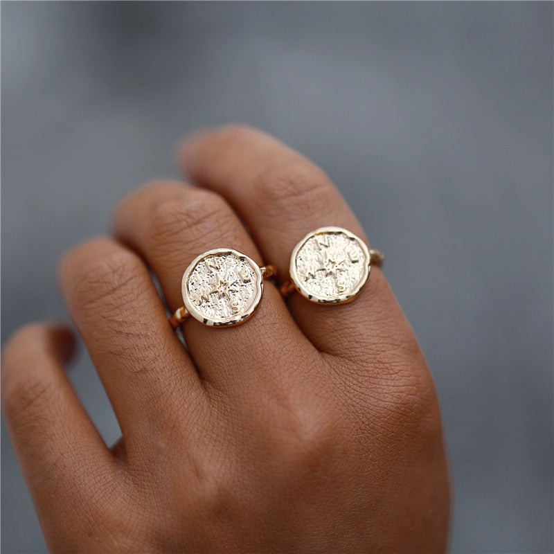 Wanderlust Compass Ring
