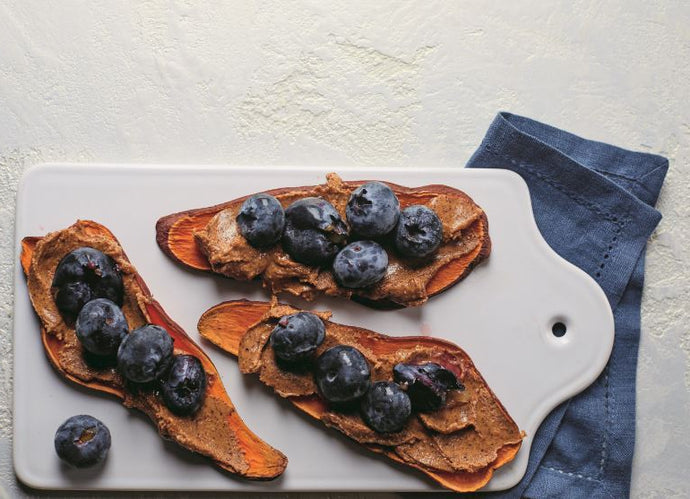 Almond Butter and Blueberry Sweet Potato Toast