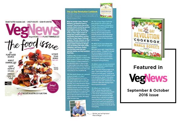 The 22-Day Revolution Cookbook Featured in VegNews