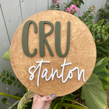 Load image into Gallery viewer, Personalized Wooden Name Sign