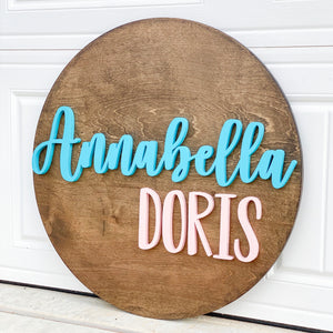 Personalized Wooden Name Sign