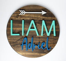 Load image into Gallery viewer, 18 inch Name Sign WITH Arrow