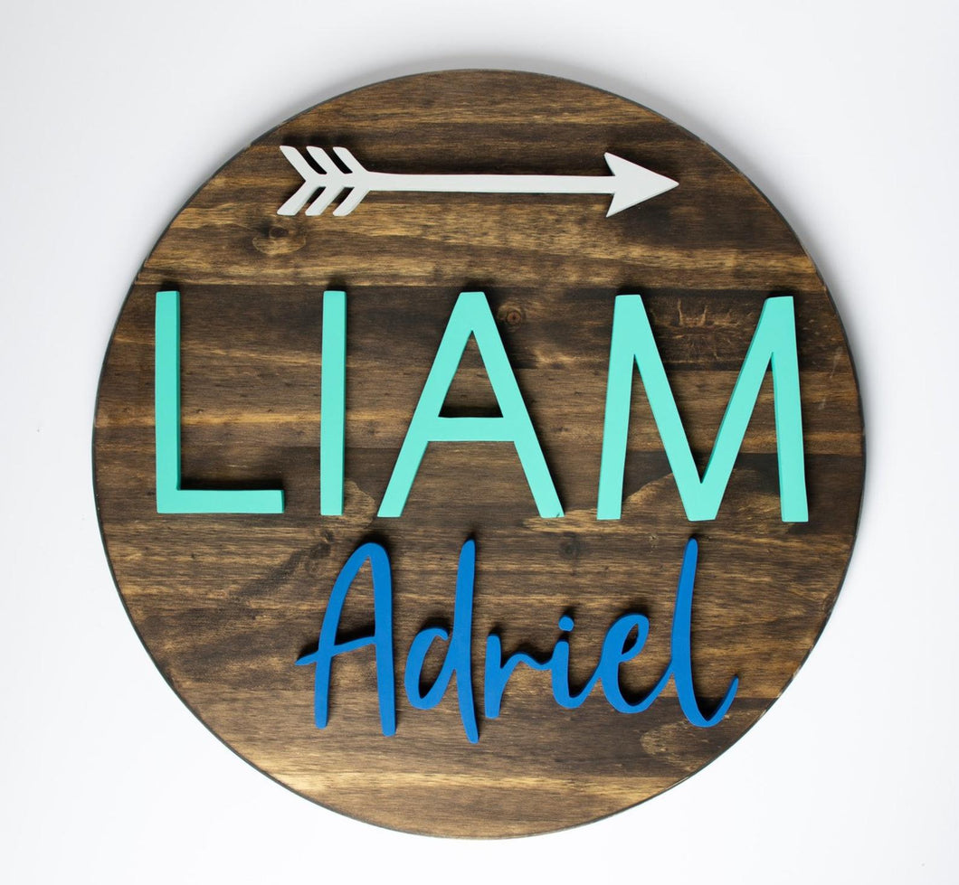 18 inch Name Sign WITH Arrow