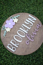 Load image into Gallery viewer, 24 inch Name Round with Large Floral*