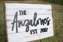 Load image into Gallery viewer, Rustic Farmhouse Family Name Sign*