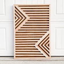 Load image into Gallery viewer, Geometric Wooden Wall Art