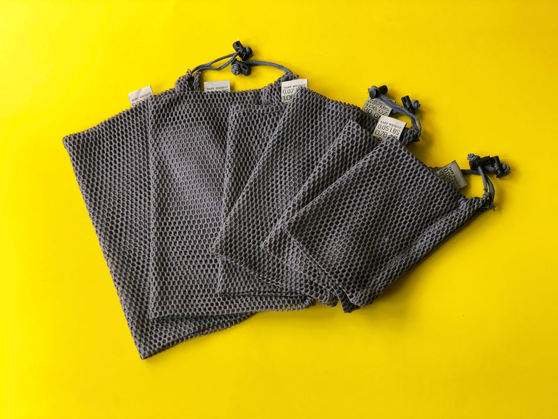 GREY Reusable Mesh Produce Bags - Set of 6