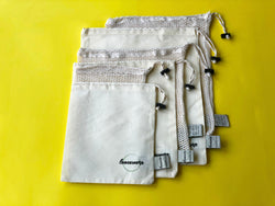 Produce Bags with Swaddle Blanket - Set of 7