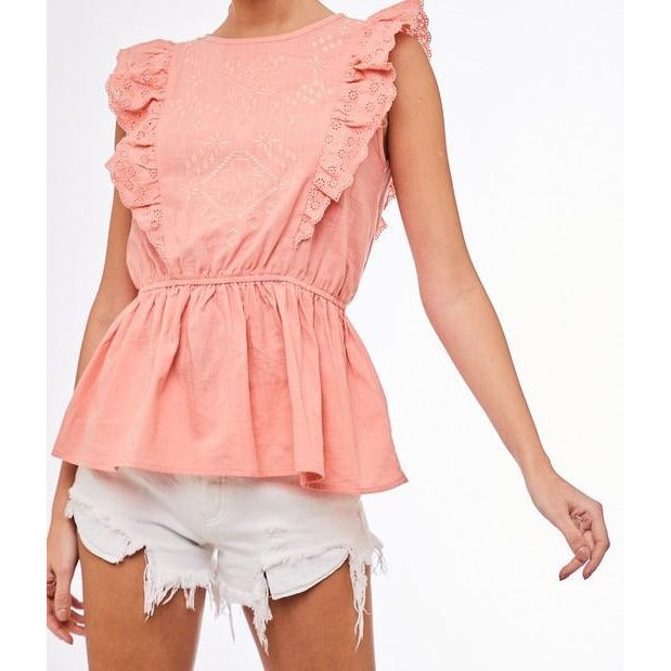 Crochet Ruffle Top