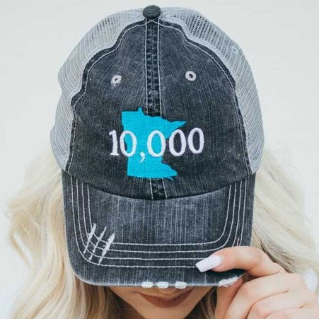 Minnesota - 10,000 Embroidered Trucker Hat