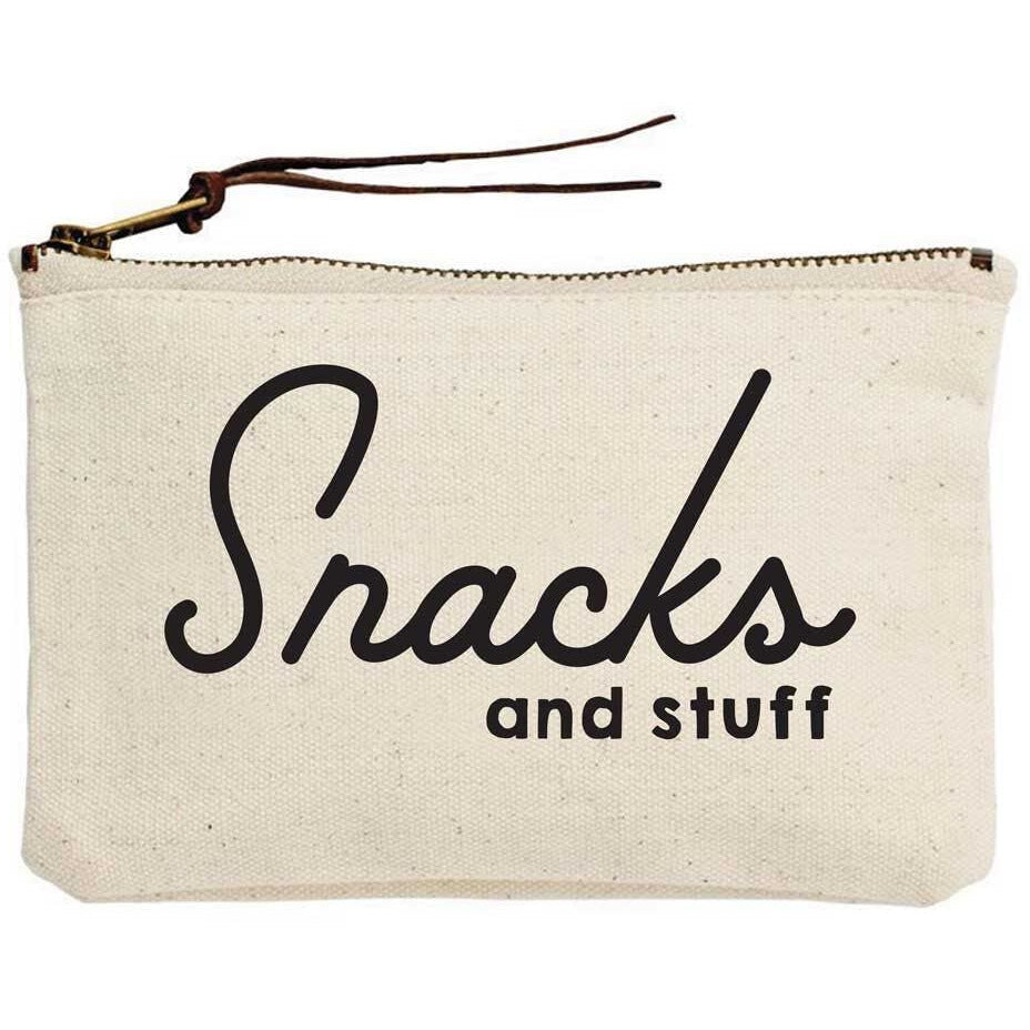 Snacks and Stuff Canvas Pouch
