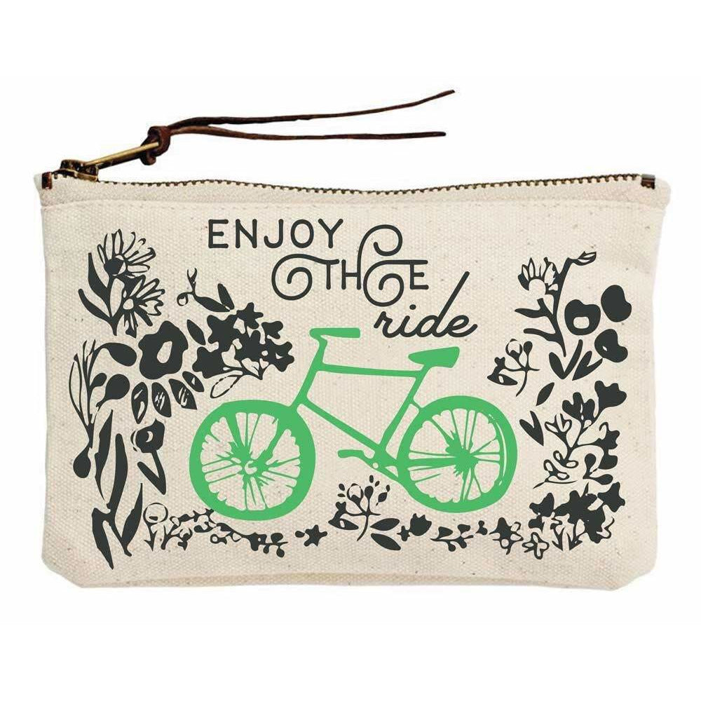 Enjoy the Ride Bicycle Canvas Pouch