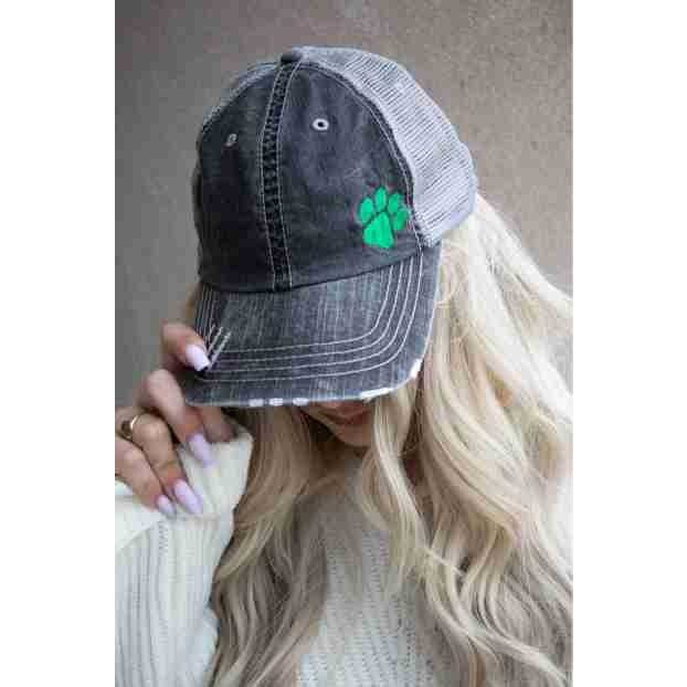 Paw Print Embroidered Trucker hat