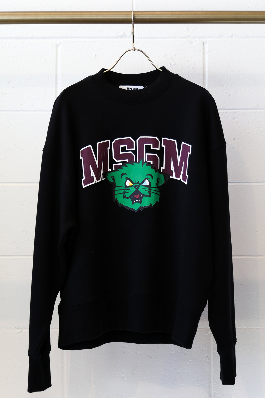Msgm Green-bear Sweatshirt