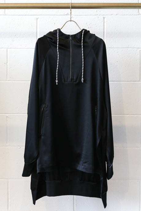 ADS-W CH3 Tech Silk Hooded Top - Black