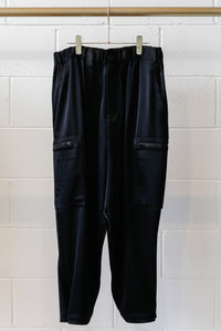 Y-3 W CH3 Tech Silk Cargo Pants - Black