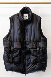 Y-3 M CH3 Lightweight puffy VEST- Black