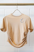 Load image into Gallery viewer, Hyein Seo Shirring Cropped Top - Beige